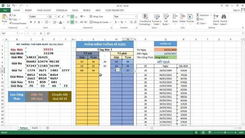 Phần mềm tính lô đề bằng Excel là một ứng dụng dùng các công thức toán học và hàm số thống kê cơ bản